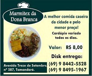 c9de65653f Marmitex Dona Branca - O melhor delivery de comida caseira de Guajará-Mirim  - A Pérola do Mamoré